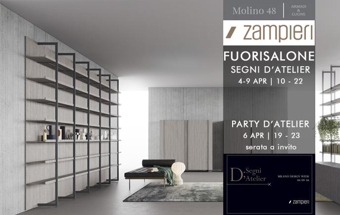 Zampieri Cucine presenta collezione Segni al Fuorisalone di Molino48